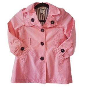 Adorable pink spring button up trench jacket